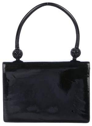 Judith Leiber Patent Leather Handle Bag
