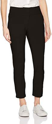 My Michelle Leighton By Women's Zip Front Skinny Career Pant