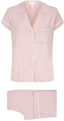 Eberjey Gisele Cropped Piped Pyjama Set