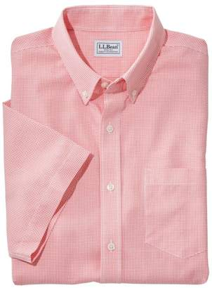 L.L. Bean L.L.Bean Men's Wrinkle-Free Check Shirt, Traditional Fit Short-Sleeve