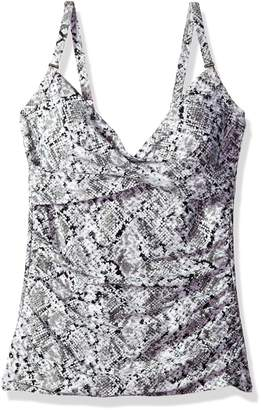 Calvin Klein Women's Molded Cup Twist Swimsuit Tankini Top with Tummy Control