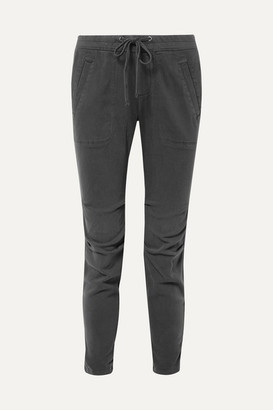 James Perse Cotton-blend Twill Track Pants - Gray