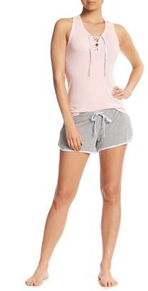 PJ Couture Lace-Up Racerback & Shorts PJ Set
