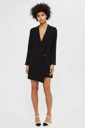 Topshop Asymmetric Blazer Dress