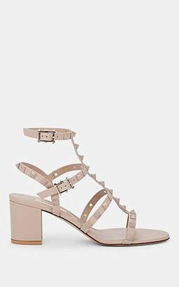 Valentino Women's Rockstud Leather Multi-Strap Sandals - Nudeflesh