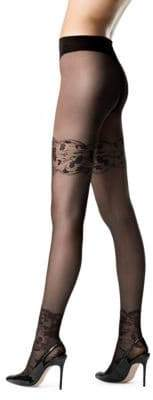 Fogal Belle Sheer Floral Pantyhose