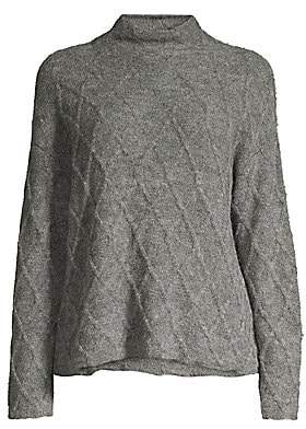Eileen Fisher Women's Peruvian Alpaca Fluff Funnelneck Sweater