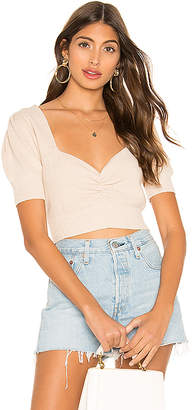 For Love & Lemons Oxford Short Sleeve Sweater