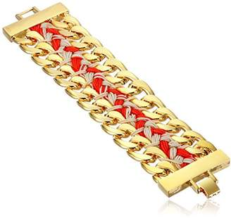 Vince Camuto Double Chain Woven Link Bracelet