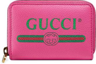 Gucci Print leather card case