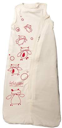 Lola & Ben Lola and Ben Pure Cotton Organic Cotton Baby Sleeping Bag in Natural Cotton with Owl Print and Brushed Fleece Organic Cotton Liner