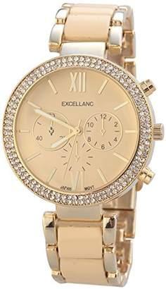 Excellanc 150807500023 Women's Quartz Watch, Analogue, Various Materials