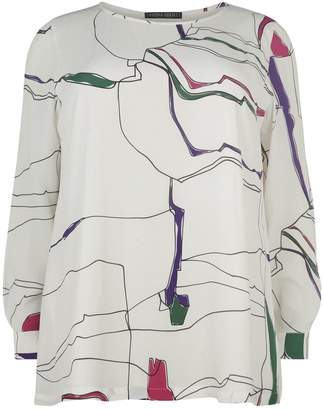 Marina Rinaldi Abstract Squiggles Tunic Top
