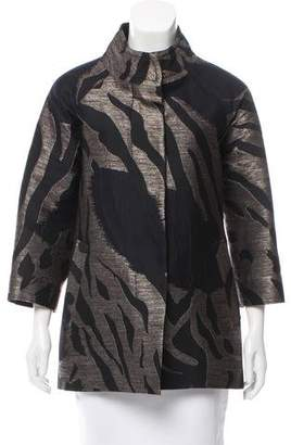 Yigal Azrouel Patterned Mock Neck Jacket