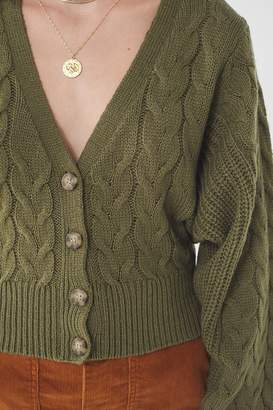 Urban Outfitters Clara Cable Knit Cardigan