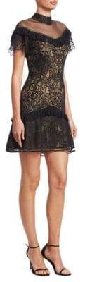 Jonathan Simkhai Mixed Lace Mini Dress