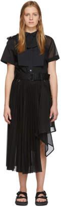Sacai (サカイ) - Sacai ブラック オーガンザ ドレス