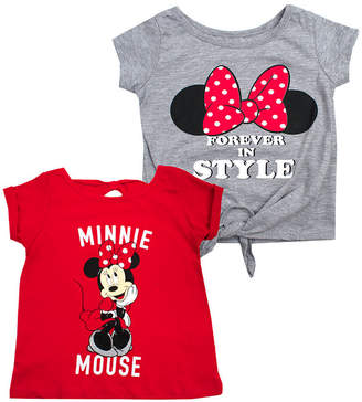 418e08588e68 DISNEY MINNIE MOUSE Disney License Tees Girls Crew Neck Short Sleeve Minnie  Mouse Graphic T-
