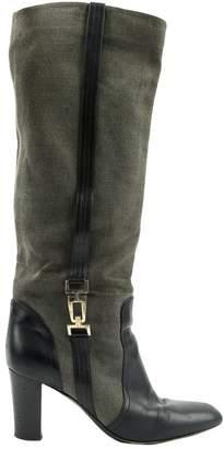 Sergio Rossi Grey Cloth High Heel