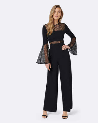Forever New Ryder Lace Flare Sleeve Jumpsuit
