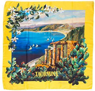One Kings Lane Vintage Dolce & Gabbana Silk Taormina Scarf - Vintage Lux