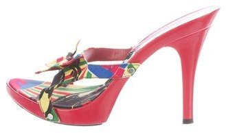 Christian Dior Butterfly-Accented Slide Sandals