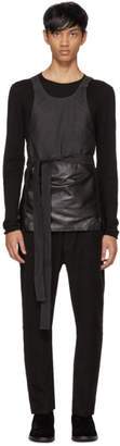 Isabel Benenato Black Leather Apron Top