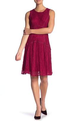 Taylor Lace Crew Neck A-Line Dress