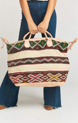 Show Me Your Mumu Pamela V ~ Get Away Weekender Bag ~ Assorted Beige Textile