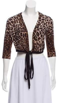 Dolce & Gabbana Cropped Animal Print Cardigan