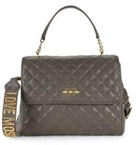 Love Moschino Quilted Faux Leather Shoulder Bag