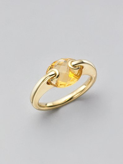 H2 at Hammerman Citrine & 18K Yellow Gold Ring