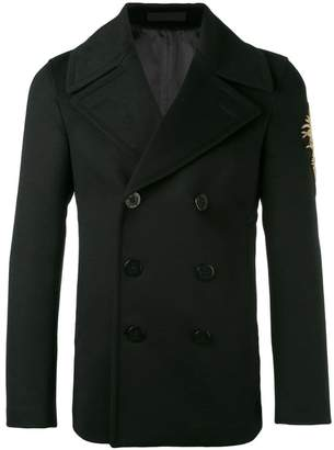 Alexander McQueen embroidered patch coat