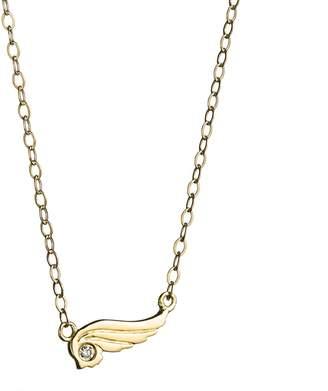 Lulu Frost CODE Wing Necklace 18k Gold & Diamond