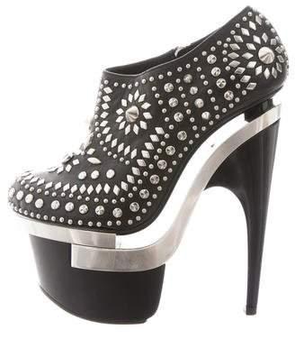 Versace Studded Platform Booties