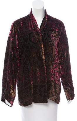 The Kooples Velvet Abstract Pattern Cardigan