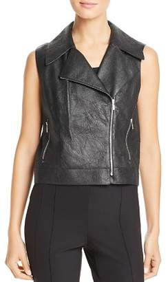Lafayette 148 New York Stevie Leather Moto Vest