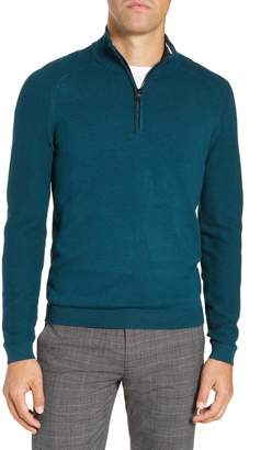 Ted Baker Just Run Trim Fit Funnel Neck Pullover