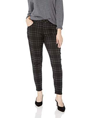 Democracy Women's Plus Size AB Solution Side Zip Plaid Jegging