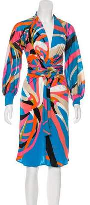 Issa Printed Wrap Dress