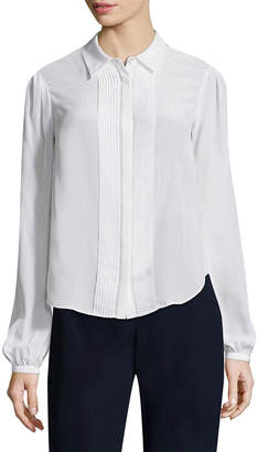 Zac Posen Silk Bow-Accented Blouse
