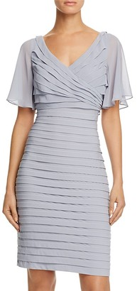 Adrianna Papell Flutter-Sleeve Pleated Dress $160 thestylecure.com