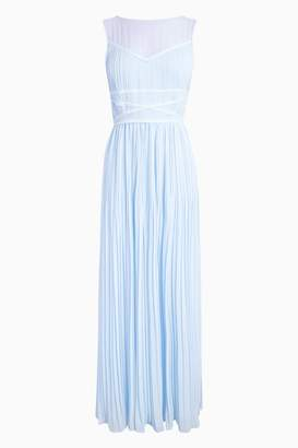 Next Womens Blue Embellished Detail Maxi Bridesmaid Dress - Blue