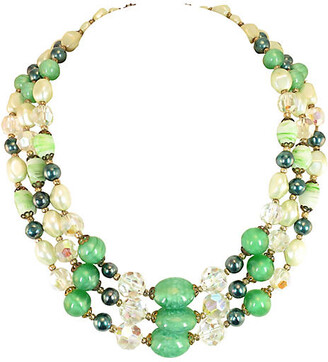 One Kings Lane Vintage '50s Austrian Crystal Art Glass Necklace - Neil Zevnik