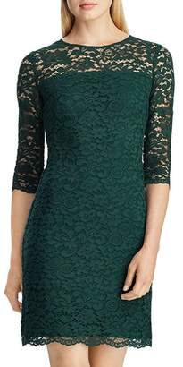 Ralph Lauren Scalloped Floral Lace Dress
