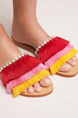 Mystique Fringed Slide Sandals