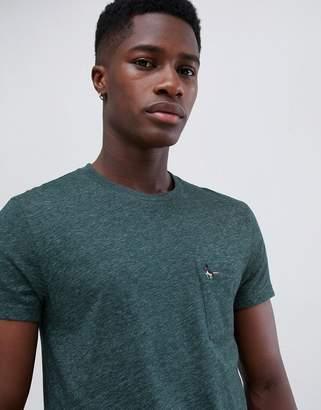 Jack Wills Ayleford slim fit pocket t-shirt in dark green