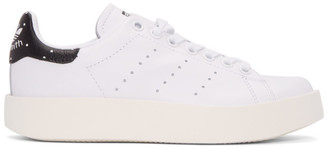 adidas Originals White Stan Smith Bold Sneakers $110 thestylecure.com