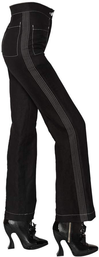 Loewe Flared Crepe Pants