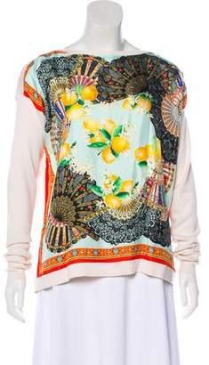 Dolce & Gabbana Silk & Cashmere-Blend Knit Sweater